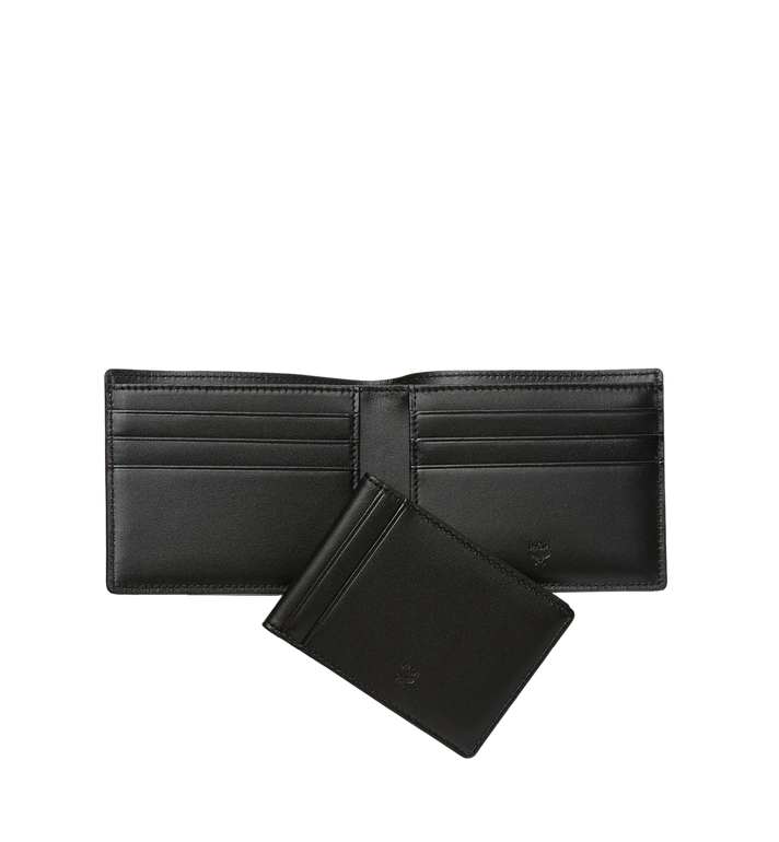 MCM Claus Bifold Wallet in Visetos Black MXS8SVI35BK001 Alternate View 5