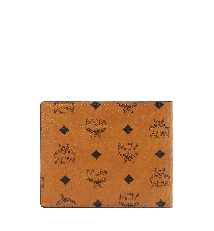 MCM Claus Bifold Wallet in Visetos Cognac MXS8SVI35CO001 Alternate View 3