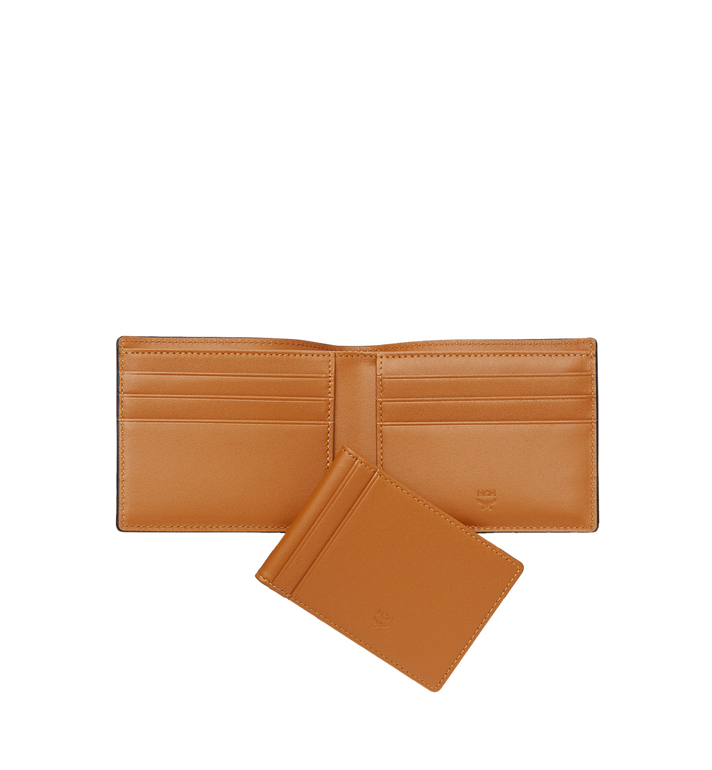 MCM Claus Bifold Wallet in Visetos Cognac MXS8SVI35CO001 Alternate View 5