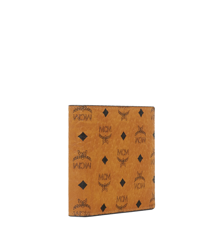 MCM กระเป๋าสตางค์พับสองทบลาย Visetos Original Cognac MXS8SVI63CO001 Alternate View 2