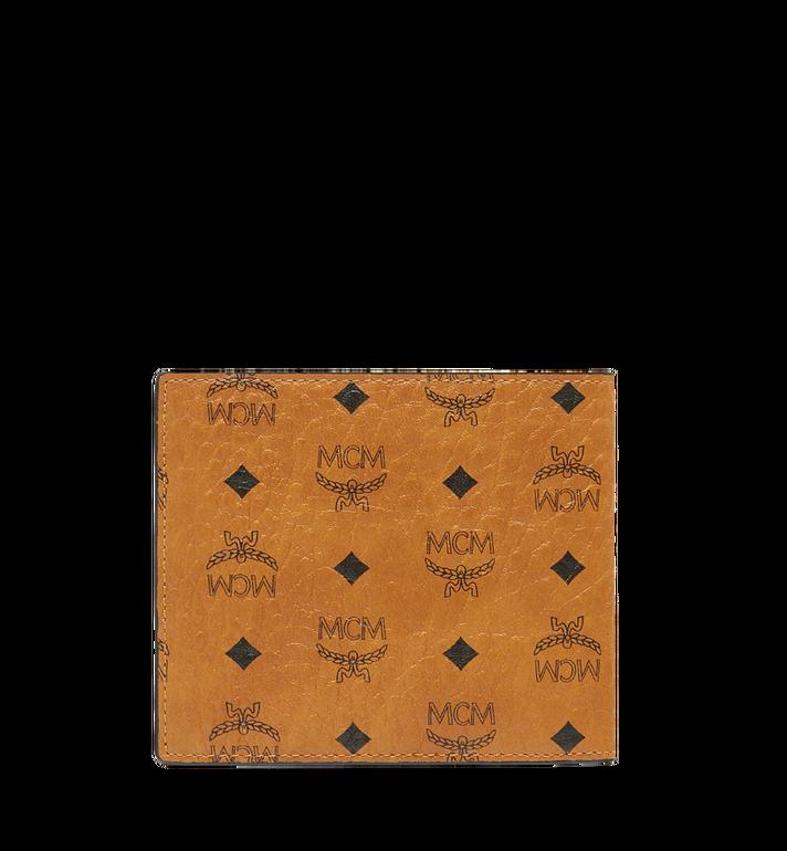 MCM กระเป๋าสตางค์พับสองทบลาย Visetos Original Cognac MXS8SVI63CO001 Alternate View 3