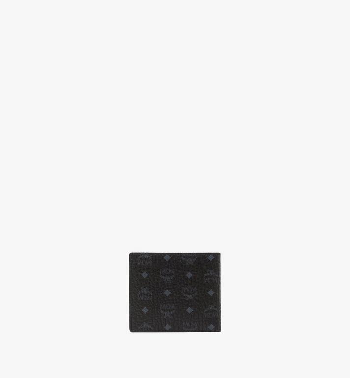 MCM Bifold Coin Wallet in Visetos Original Black MXS8SVI66BK001 Alternate View 3