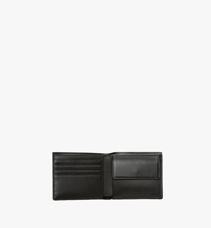 MCM Bifold Coin Wallet in Visetos Original Black MXS8SVI66BK001 Alternate View 4