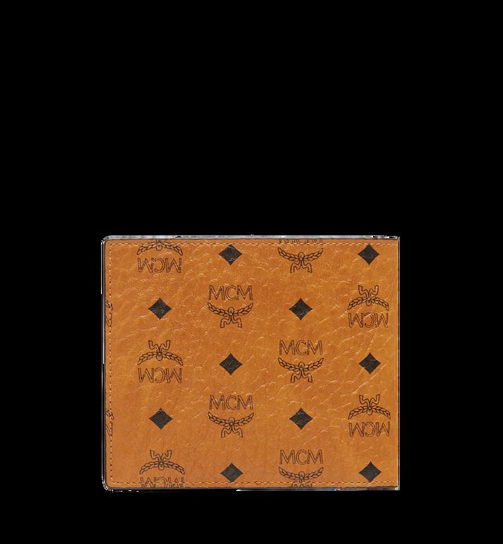 MCM Portefeuille à deux volets en Visetos Original Cognac MXS8SVI66CO001 Alternate View 3