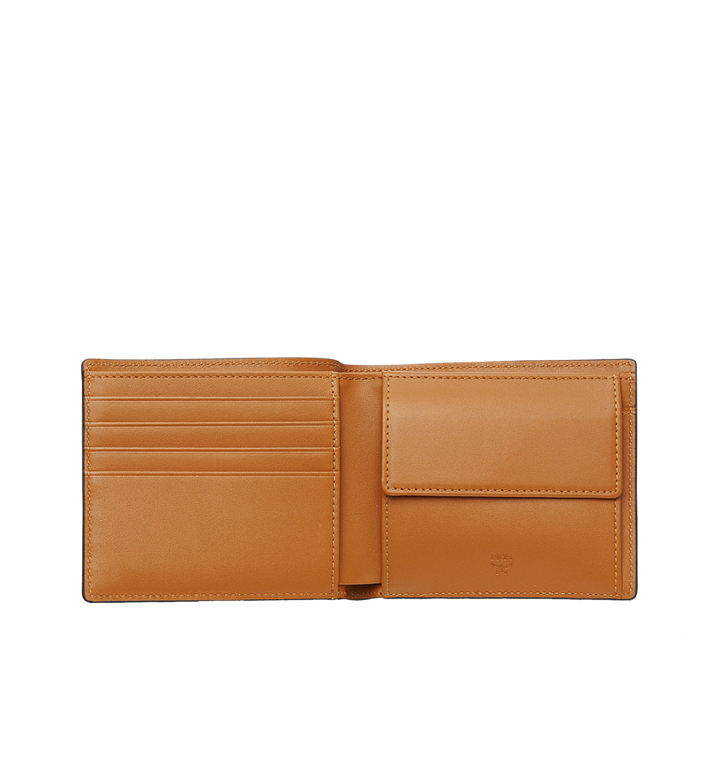 MCM Bifold Coin Wallet in Visetos Original Cognac MXS8SVI66CO001 Alternate View 4