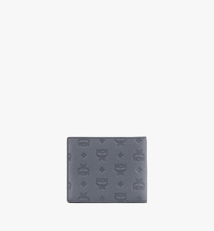 MCM 組合圖案皮革的 Tivitat 雙折錢包 Grey MXS9ABT23FK001 Alternate View 2