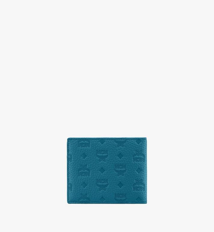 MCM 組合圖案皮革的 Tivitat 雙折錢包 Blue MXS9ABT23JF001 Alternate View 2