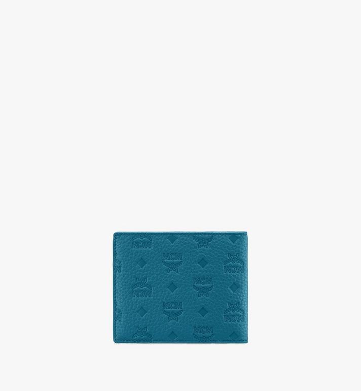 MCM Tivitat Bifold Wallet in Monogram Leather Blue MXS9ABT23JF001 Alternate View 2