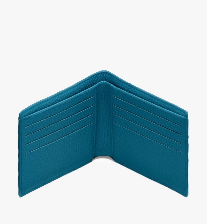 MCM 組合圖案皮革的 Tivitat 雙折錢包 Blue MXS9ABT23JF001 Alternate View 3