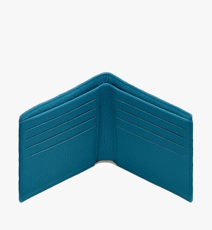 MCM Tivitat Bifold Wallet in Monogram Leather Blue MXS9ABT23JF001 Alternate View 3