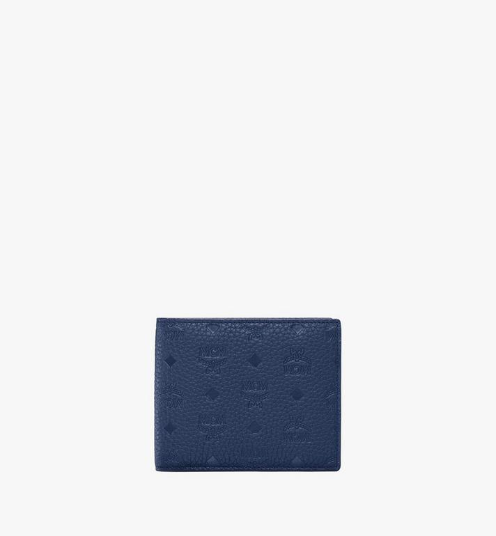 MCM Tivitat Bifold Wallet in Monogram Leather Blue MXS9ABT23VA001 Alternate View 1