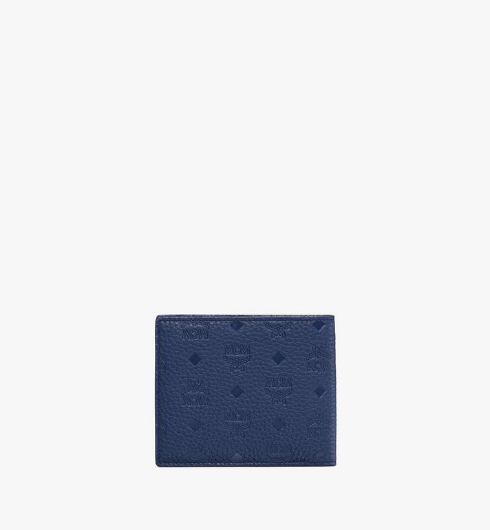 MCM Tivitat Bifold Wallet in Monogram Leather Blue MXS9ABT23VA001 Alternate View 2