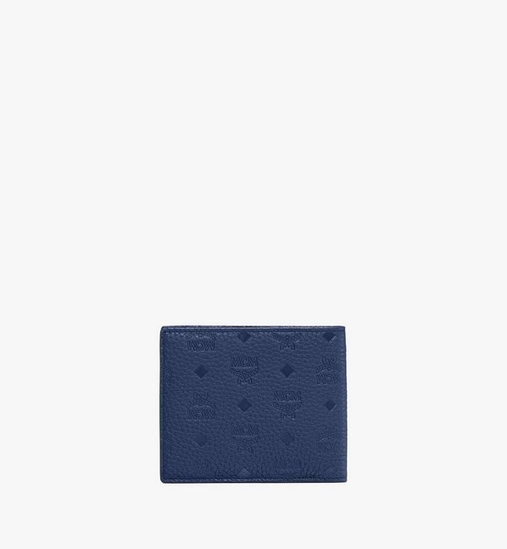MCM Tivitat Bifold Wallet in Monogram Leather Blue MXS9ABT23VA001 Alternate View 3