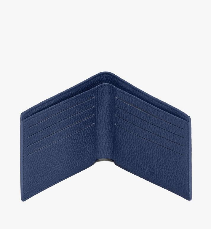 MCM Tivitat Bifold Wallet in Monogram Leather Blue MXS9ABT23VA001 Alternate View 4