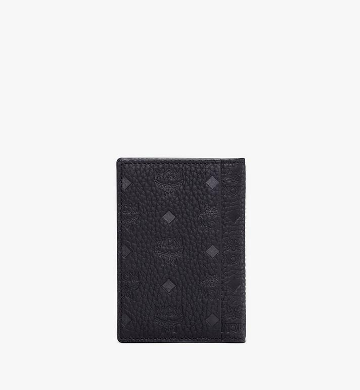 MCM Tivitat Two-Fold Wallet in Monogram Leather Black MXS9ABT25BK001 Alternate View 2