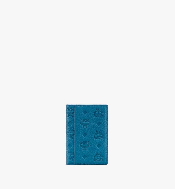 MCM Tivitat Mini Bifold Wallet in Monogram Leather Blue MXS9ABT25JF001 Alternate View 2