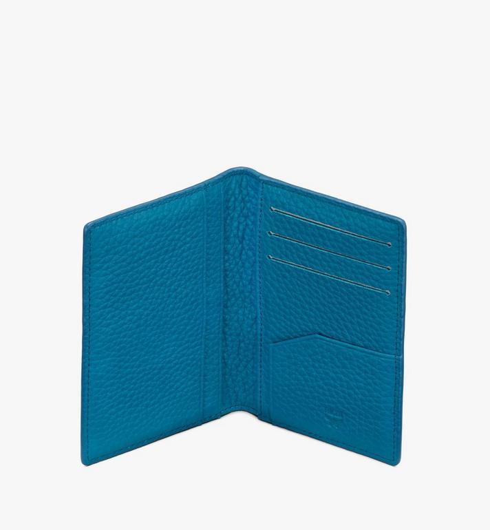 MCM 縮寫字母圖案皮革 Tivitat 雙折錢包 Blue MXS9ABT25JF001 Alternate View 3