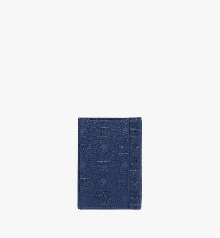 MCM Tivitat Two-Fold Wallet in Monogram Leather Blue MXS9ABT25VA001 Alternate View 2
