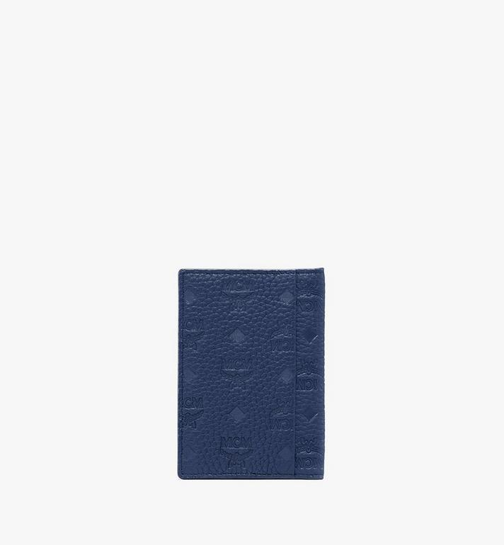 MCM Tivitat Two-Fold Wallet in Monogram Leather Blue MXS9ABT25VA001 Alternate View 2