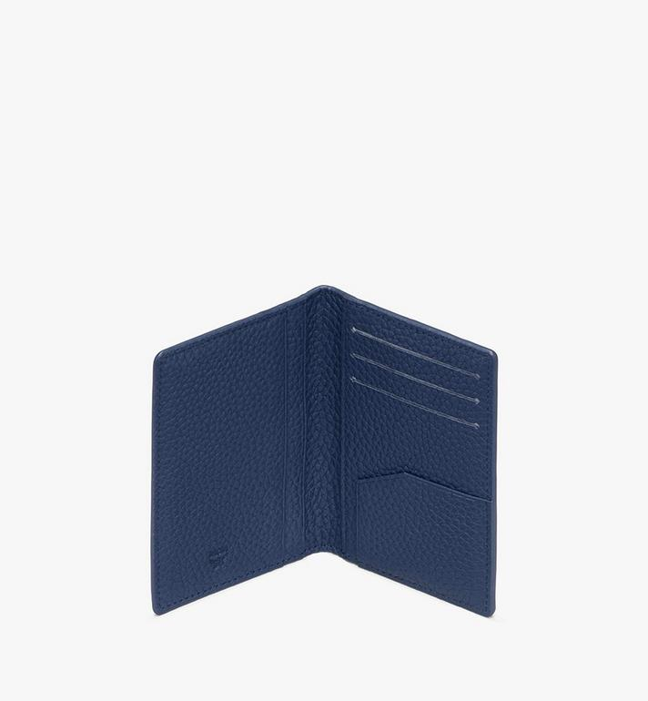 MCM Tivitat Two-Fold Wallet in Monogram Leather Blue MXS9ABT25VA001 Alternate View 3