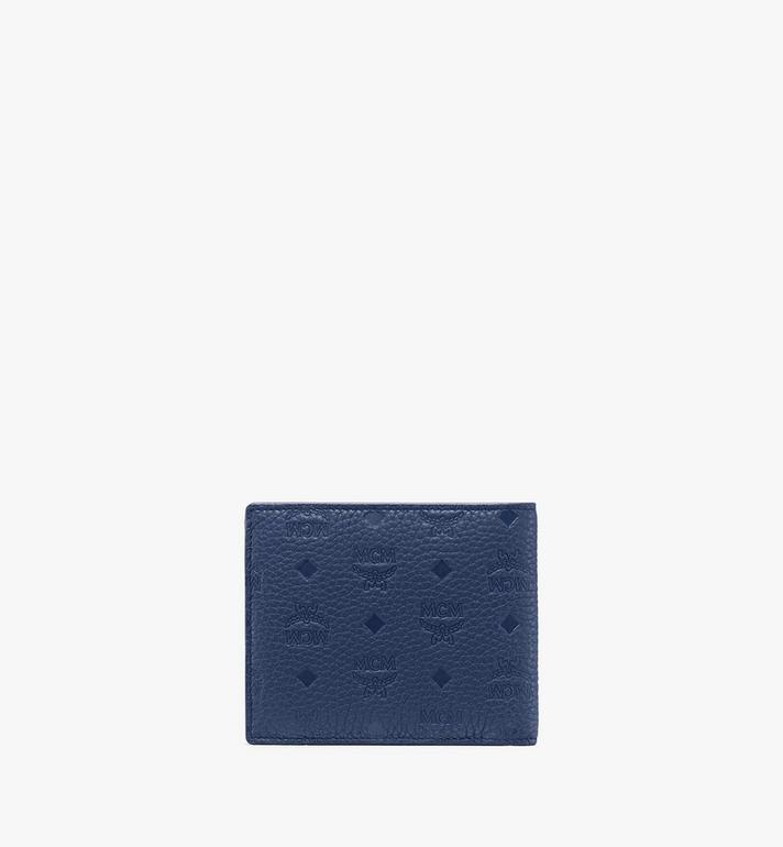 MCM 花押字圖案皮革的 Tivitat 雙折錢包 Blue MXS9ABT29VA001 Alternate View 2