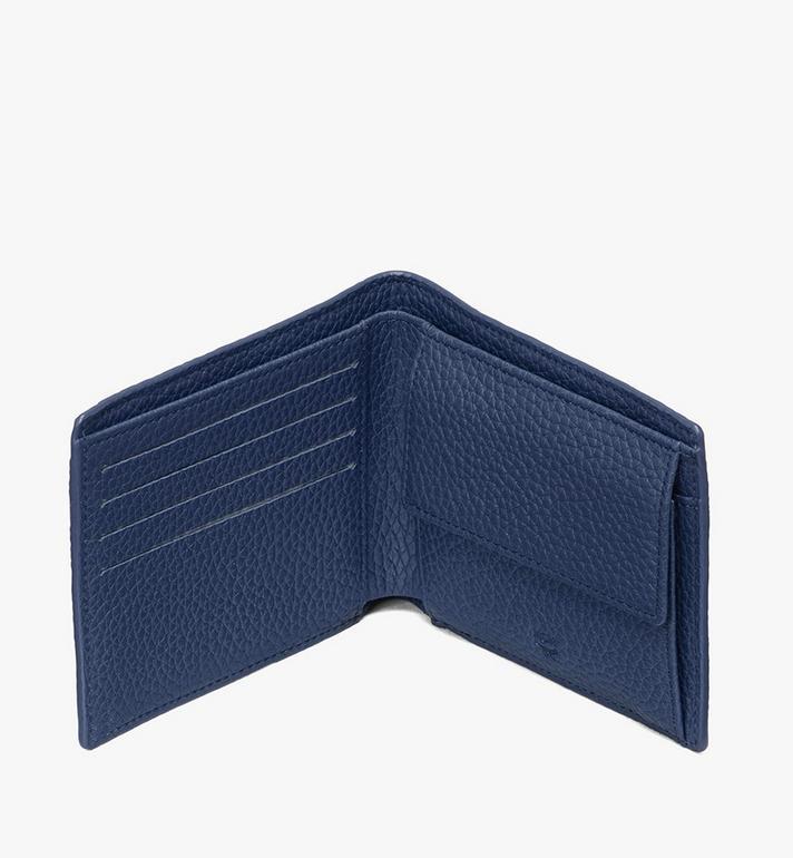 MCM 花押字圖案皮革的 Tivitat 雙折錢包 Blue MXS9ABT29VA001 Alternate View 3