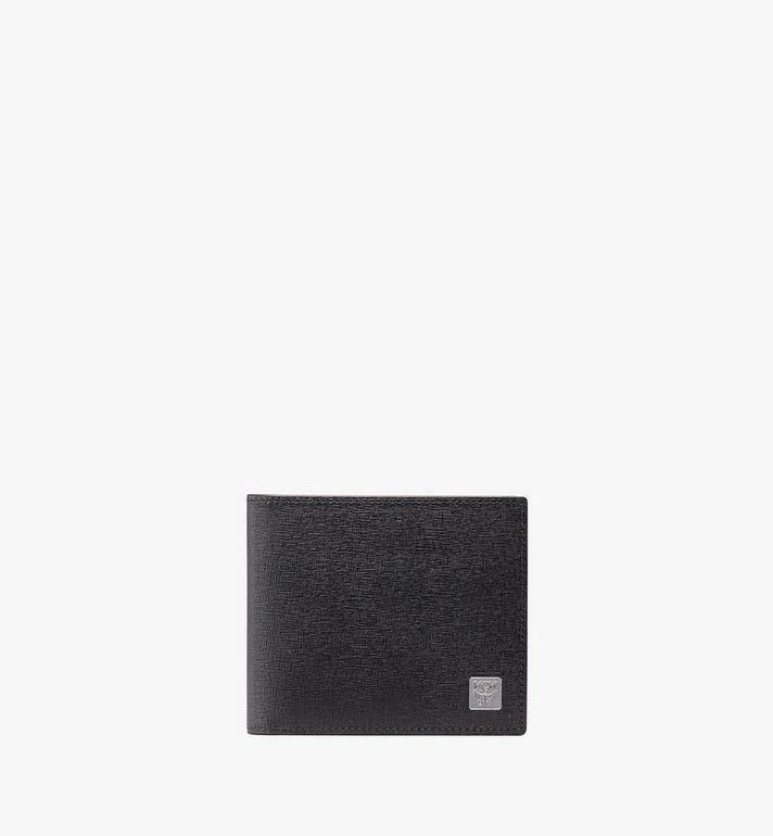 MCM Coburg Bifold Wallet in Crossgrain Leather Alternate View