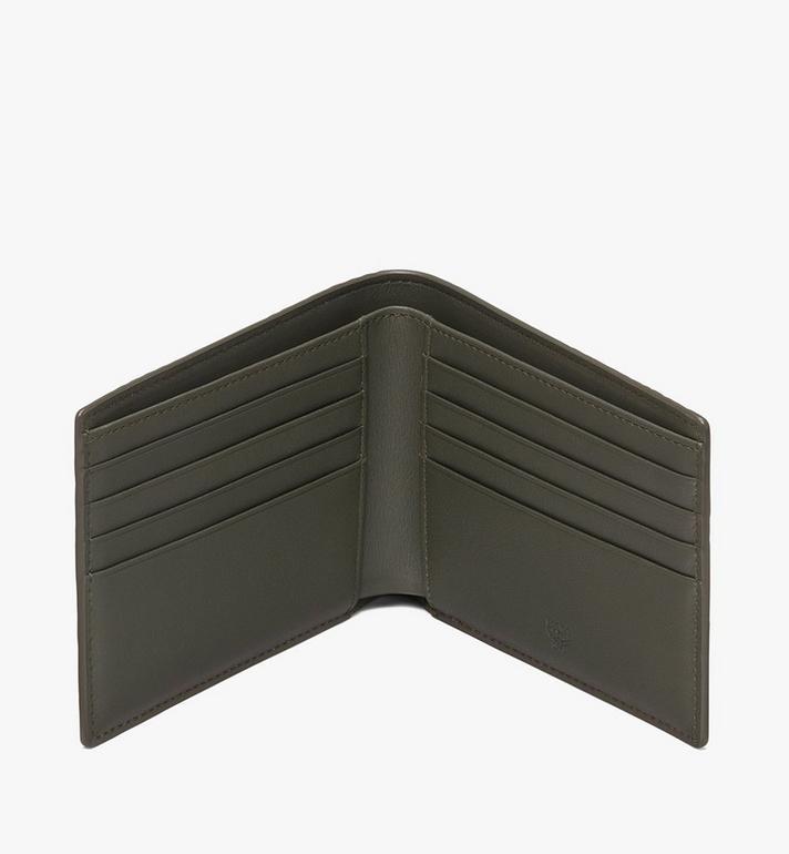 MCM กระเป๋าสตางค์พับสองทบลาย Visetos Green MXS9AVI41G8001 Alternate View 3