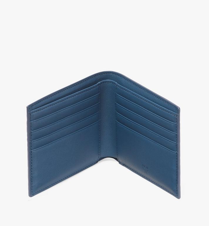 MCM Bifold Wallet in Visetos Blue MXS9AVI41VS001 Alternate View 3