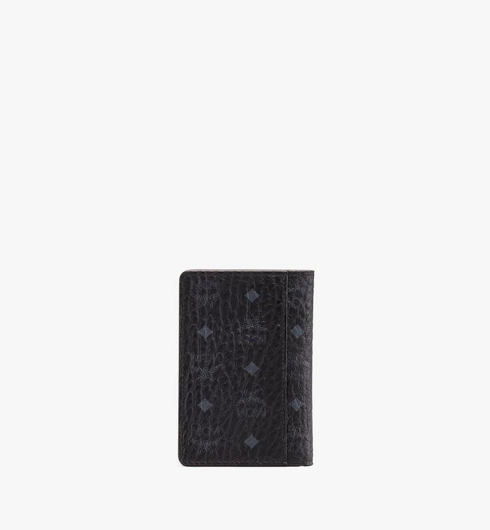 MCM Two-Fold Wallet in Visetos Black MXS9AVI53BK001 Alternate View 2