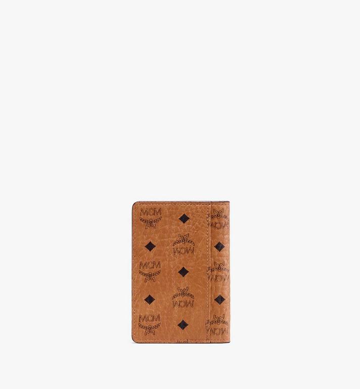 MCM Two-Fold Wallet in Visetos Cognac MXS9AVI53CO001 Alternate View 2