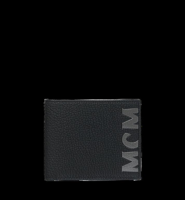 MCM กระเป๋าสตางค์พับสองทบพิมพ์ลายโลโก้ทำจากหนัง Alternate View