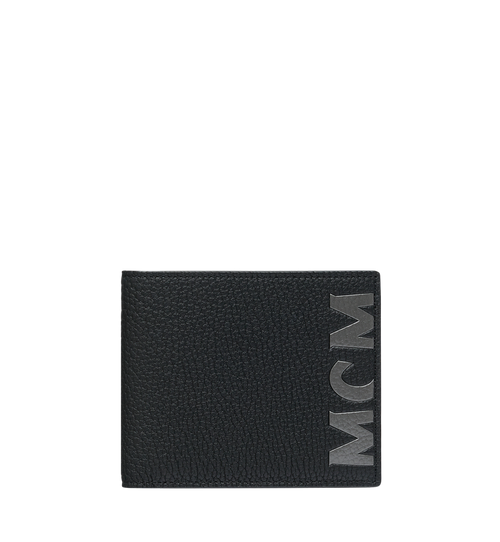 Bifold Wallet in Logo Print Leather