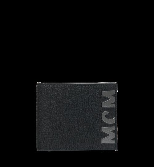 Bifold Wallet in Logo Print Leather