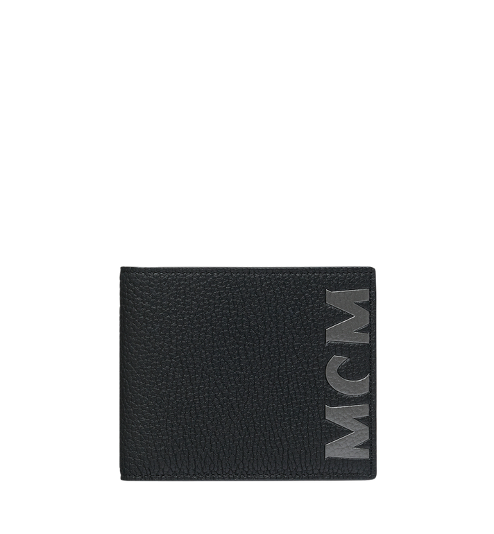 MCM Bifold Wallet in Logo Print Leather Black MXS9SBM03BK001 Alternate View 1