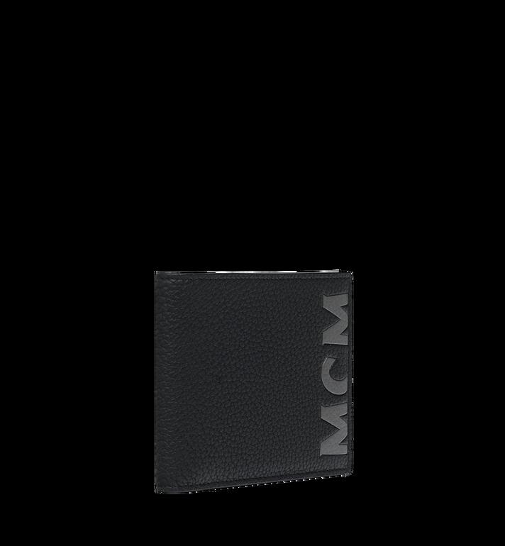 MCM กระเป๋าสตางค์พับสองทบพิมพ์ลายโลโก้ทำจากหนัง Black MXS9SBM03BK001 Alternate View 2