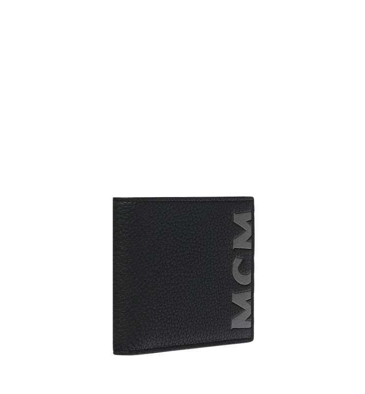 MCM Logo 印花皮革雙折錢包 Black MXS9SBM03BK001 Alternate View 2