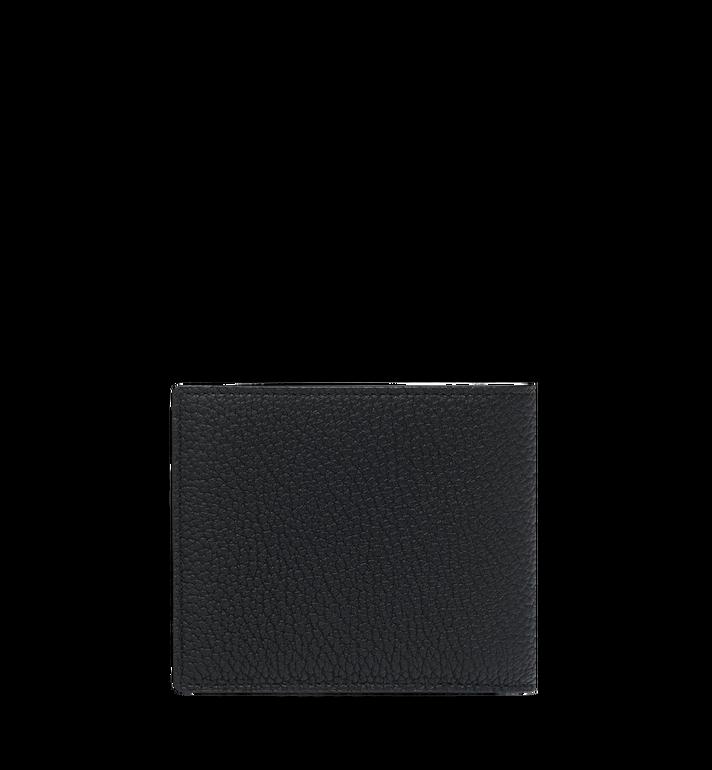 MCM กระเป๋าสตางค์พับสองทบพิมพ์ลายโลโก้ทำจากหนัง Black MXS9SBM03BK001 Alternate View 3