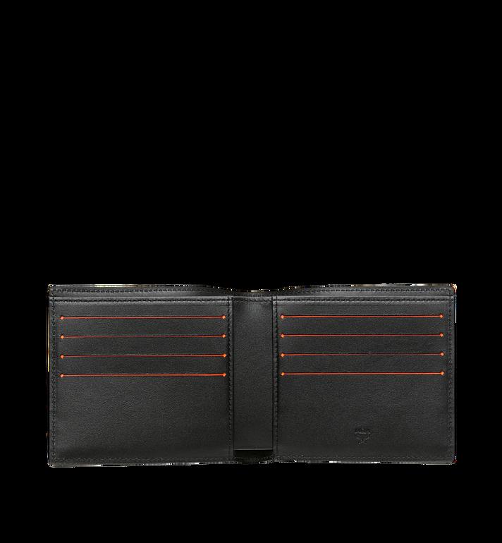 MCM กระเป๋าสตางค์พับสองทบพิมพ์ลายโลโก้ทำจากหนัง Black MXS9SBM03BK001 Alternate View 4