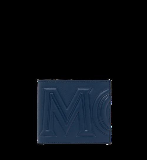 กระเป๋าสตางค์พับสองทบลาย MCM Injection Logo
