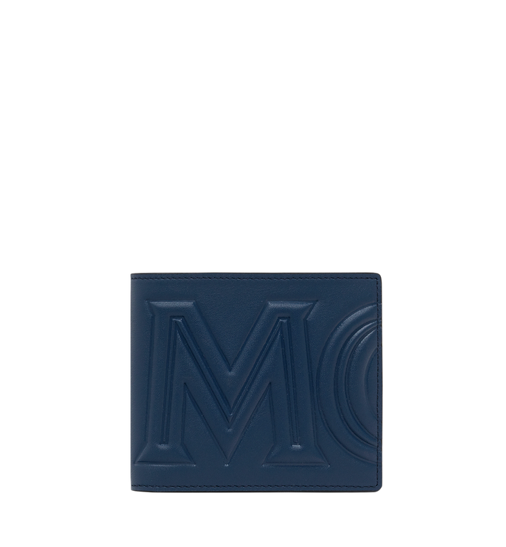 MCM MCM 標誌兩折式皮夾 Navy MXS9SCL02VA001 Alternate View 1