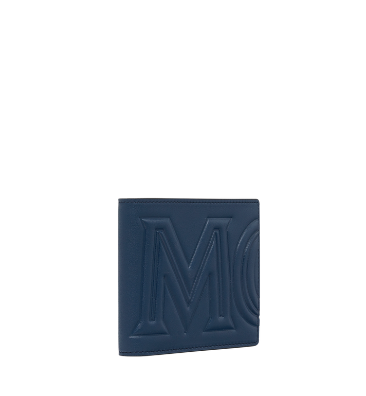 MCM Bifold Wallet in MCM Injection Logo Navy MXS9SCL02VA001 Alternate View 2
