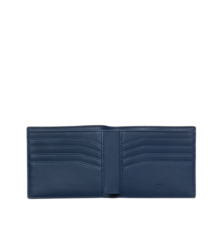 MCM Bifold Wallet in MCM Injection Logo Navy MXS9SCL02VA001 Alternate View 3