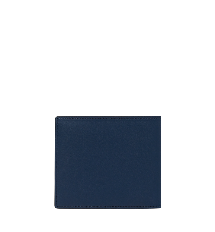 MCM Bifold Wallet in MCM Injection Logo Navy MXS9SCL02VA001 Alternate View 4
