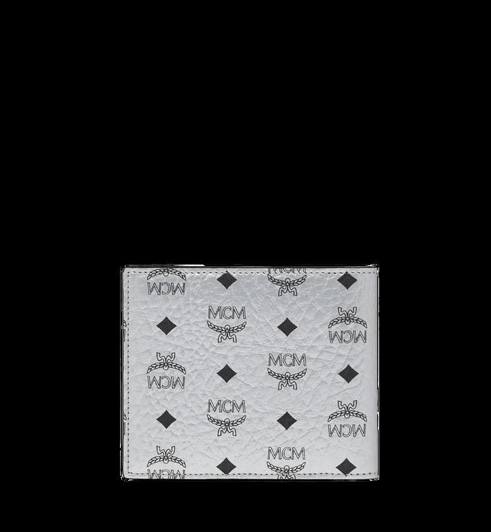 MCM Portefeuille à deux volets en Visetos Original Silver MXS9SVI63SB001 Alternate View 3