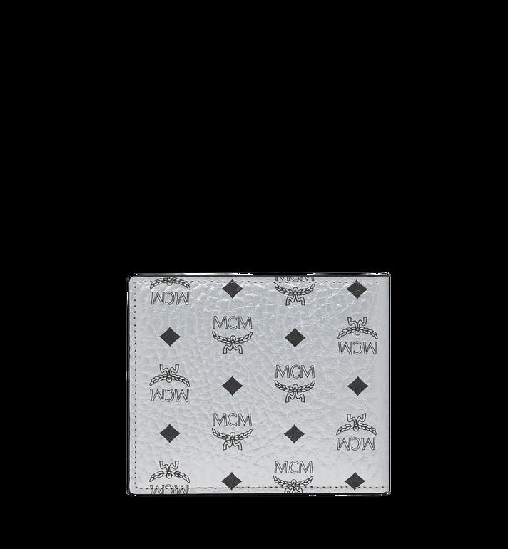 MCM Bifold Coin Wallet in Visetos Original Silver MXS9SVI66SB001 Alternate View 3