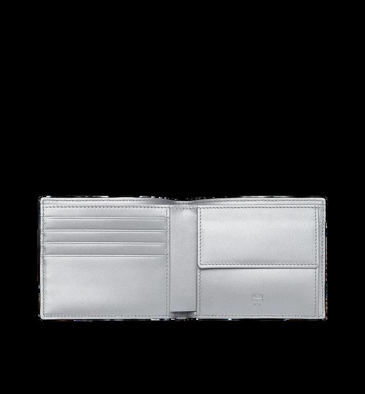 MCM Bifold Coin Wallet in Visetos Original Silver MXS9SVI66SB001 Alternate View 4