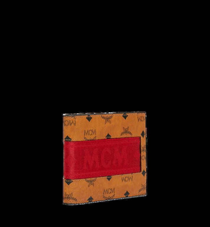 MCM Bifold with Card Case in Webbing Visetos Cognac MXS9SVI93CO001 Alternate View 2