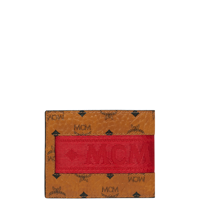 MCM Bifold with Card Case in Webbing Visetos Cognac MXS9SVI93CO001 Alternate View 3