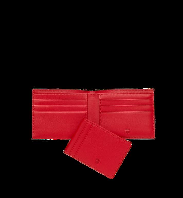 MCM Bifold with Card Case in Webbing Visetos Cognac MXS9SVI93CO001 Alternate View 5